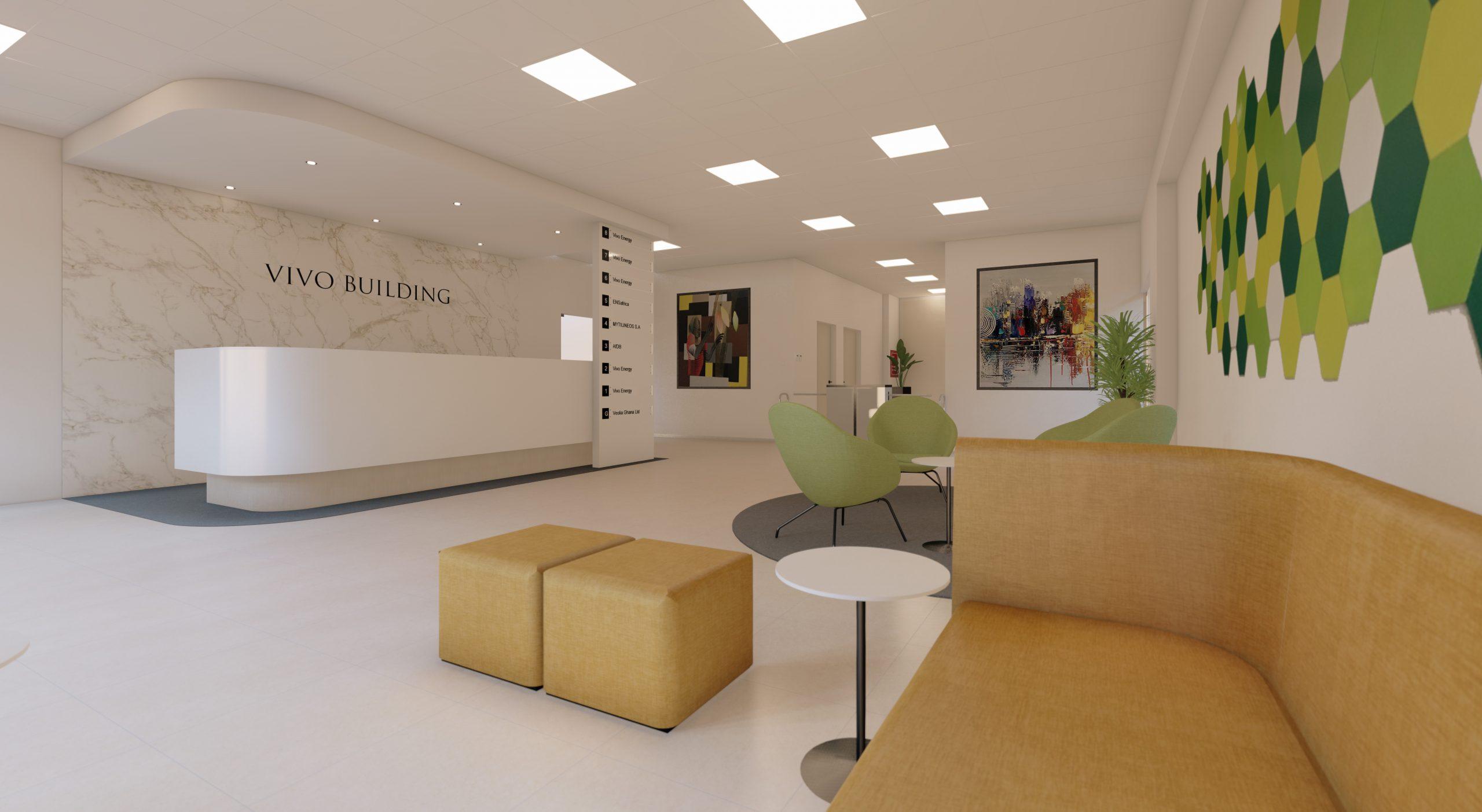 Vivo Building Reception - Nolle designs